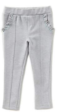 Edgehill Collection Little Girls 2T-6X Ponte Ruffle-Pocket Pants