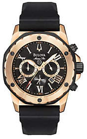 Bulova Men's Rose Goldtone CaseWatch w/CalendarFunction