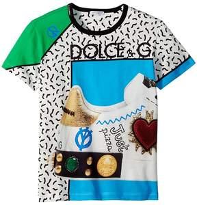 Dolce & Gabbana Scarpe Print T-Shirt Boy's T Shirt