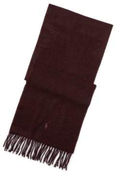Ralph Lauren Classic Cashmere Scarf Aged Wine Hthr One Size