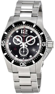 Longines HydroConquest Black Dial Men's Chronograph Watch