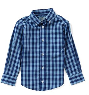 Class Club Little Boys 2T-7 Button-Down Long-Sleeve Checked Shirt