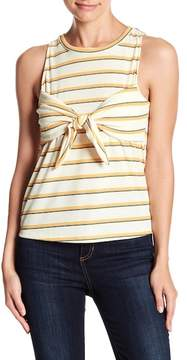Dee Elly Striped Tie Accent Top