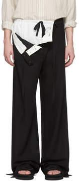 Ann Demeulemeester Black Petals Trousers