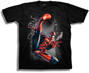 Freeze Spider-Man Black Tee - Boys