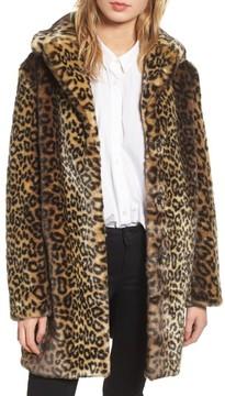Laundry by Shelli Segal Women's Reversible Cheetah Print Faux Fur Jacket
