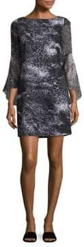 Elie Tahari Esmarella Bell-Sleeve Dress