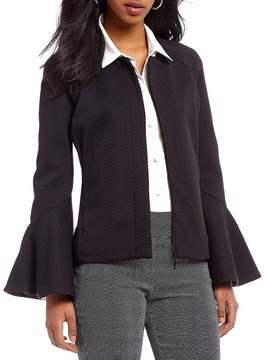 Isaac Mizrahi Imnyc IMNYC Zip Front Tier Sleeve Short Jacket