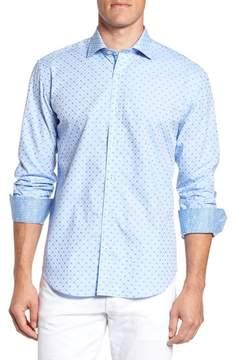 Bugatchi Men's Shaped Fit Dot Sport Shirt