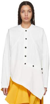 J.W.Anderson White Asymmetric Knot Button Shirt