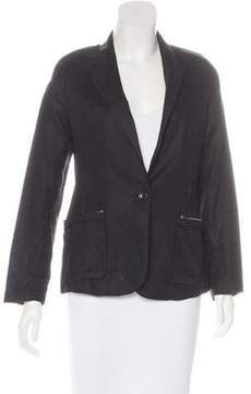 Brochu Walker Linen Peak-Lapel Blazer