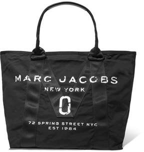 Marc Jacobs Leather-trimmed Printed Shell Tote - Black - BLACK - STYLE