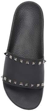 Valentino Studded Rubber Slide Sandals