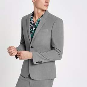 River Island Mens Grey super skinny suit jacket