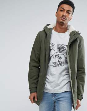 ONLY & SONS Parka With Fleece Lining
