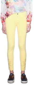 Desigual Women's Yellow Cotton Pants.