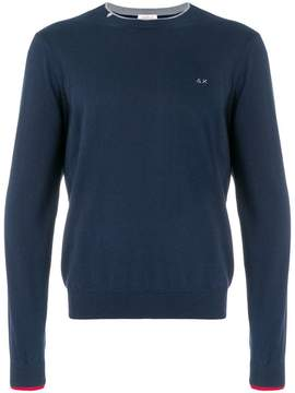 Sun 68 contrast trim sweatshirt