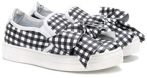 Simonetta gingham bow front sneakers