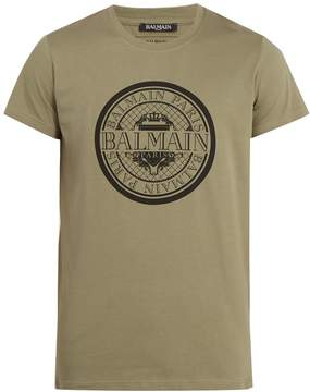 Balmain Circle logo-print cotton T-Shirt