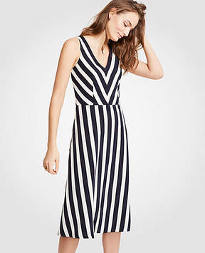 Ann Taylor Tall Nautical Stripe Flare Dress