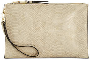 INC International Concepts I.n.c. Molyy Snake-Embossed Party Clutch, Created for Macy's