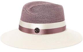 Maison Michel Blair Two-tone Hemp Hat - Purple
