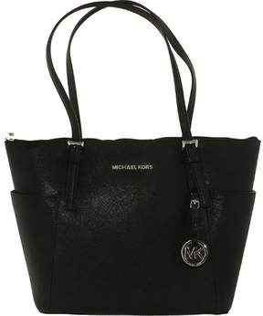 Michael Kors MICHAEL Jet Set Medium Top-Zip Tote - BLACK / SILVER - STYLE