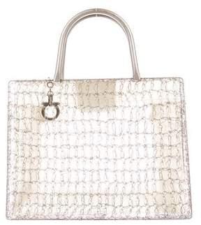 Salvatore Ferragamo Wire Crochet Handle Bag