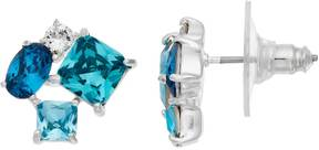 Brilliance+ Brilliance Silver Plated Ombre Cluster Stud Earrings with Swarovski Crystals