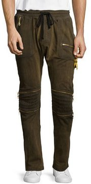 Robin's Jeans Motard Gold-Coated Jogger Jeans, Gold
