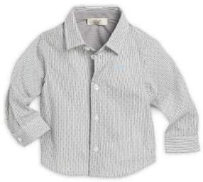 Armani Junior Infant Boy's Printed Cotton Shirt