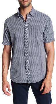 James Campbell Weck Checked Short Sleeve Regular Fit Shirt