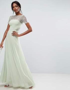 Asos Lace Insert Paneled Maxi Dress
