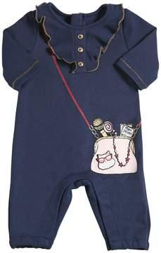 Little Marc Jacobs Bag Printed Cotton Interlock Romper