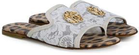 Roberto Cavalli slip-on lace slides