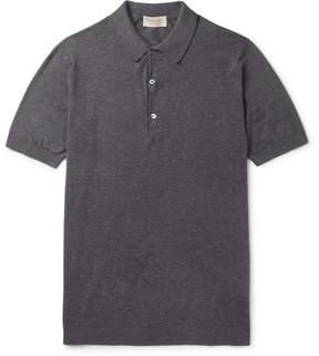 John Smedley Haddon Cotton And Cashmere-Blend Polo Shirt