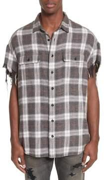 R 13 Oversize Plaid Flannel Shirt