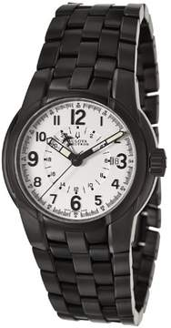 Bulova Accutron Men's Eagle Pilot' Black Stainless Steel Watch