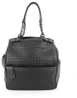 Bottega Veneta Pre-owned: Zip Pocket Shoulder Bag Intrecciato Nappa With Snakeskin.