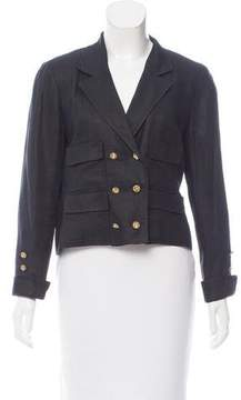 Chanel Vintage Double-Breasted Wool Blazer