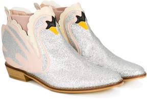 Stella McCartney swan glittered ankle boots