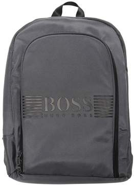 HUGO BOSS Logo Printed Nylon Canvas Backpack