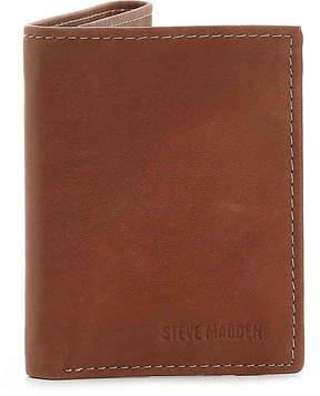Steve Madden Men's Antique Trifold Leather Wallet