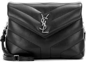 Saint Laurent Monogram Strap leather shoulder bag - BLACK - STYLE