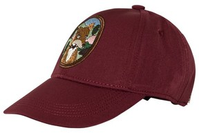 Mini Rodini Burgundy Fox Embroidery Cap