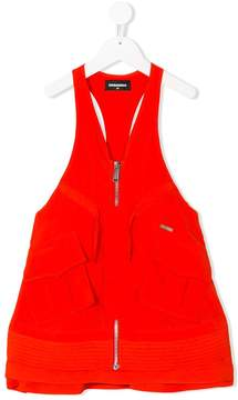 DSQUARED2 zipped dungarees dress