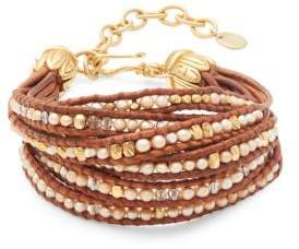Chan Luu Multi-Strand Leather Bracelet