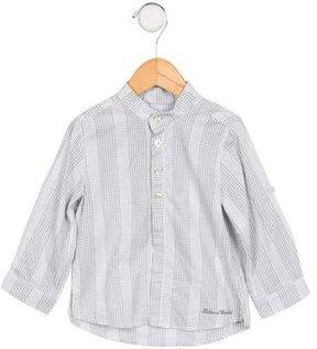 Tartine et Chocolat Boys' Checkered Long Sleeve Shirt