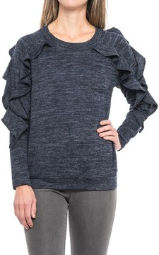 August Silk Ruffled Shirt - Long Sleeve (For Women)