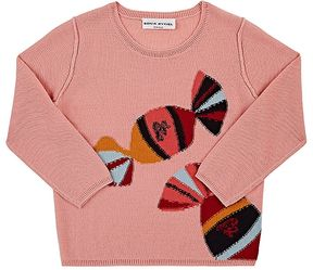 Sonia Rykiel Candy-Intarsia Reverse-Stitched Wool-Blend Sweater